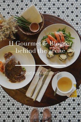 H Gourmet & Blogger behind the scene #food story #stellerID