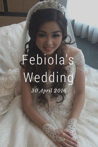 Febiola's Wedding 30 April 2016