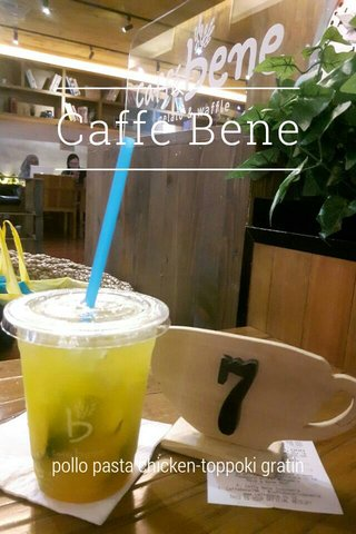 Caffe Bene pollo pasta chicken-toppoki gratin