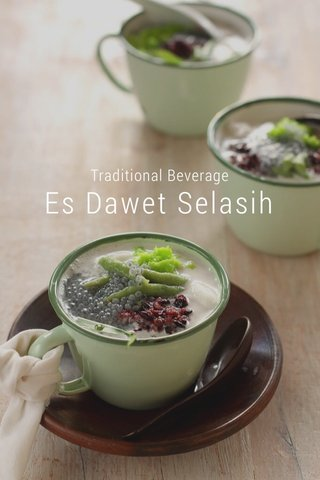 Es Dawet Selasih Traditional Beverage
