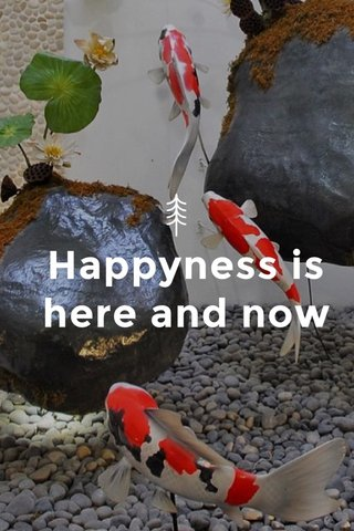 Happyness is here and now