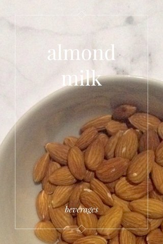 almond milk beverages