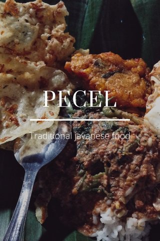 PECEL Traditional javanese food