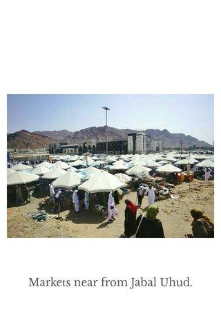 Markets near from Jabal Uhud.
