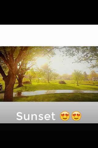 Sunset 😍😍