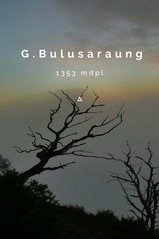 G.Bulusaraung 1353 mdpl