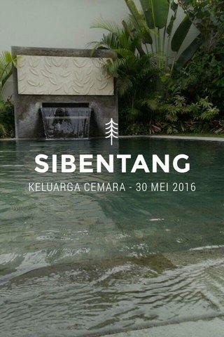 SIBENTANG KELUARGA CEMARA - 30 MEI 2016
