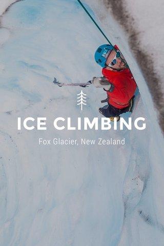 ICE CLIMBING Fox Glacier, New Zealand