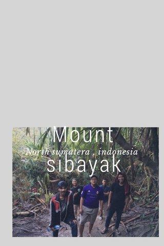 Mount sibayak North sumatera , indonesia