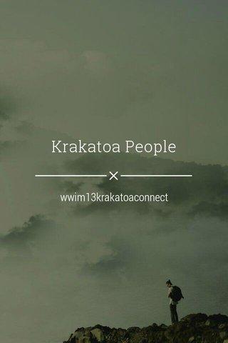 Krakatoa People wwim13krakatoaconnect