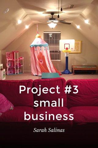 Project #3 small business Sarah Salinas