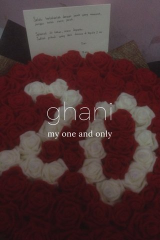 ghani my one and only