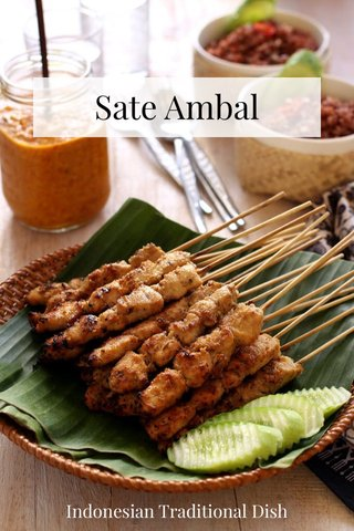 Sate Ambal Indonesian Traditional Dish