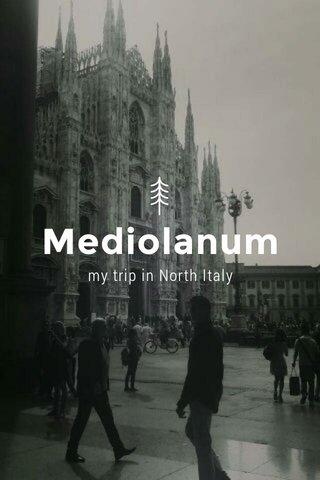 Mediolanum my trip in North Italy