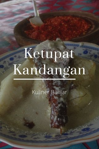 Ketupat Kandangan Kuliner Banjar