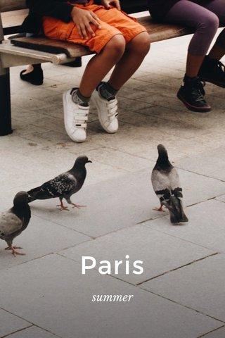 Paris summer