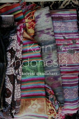 Kain Indonesia koleksi @kudaliarr