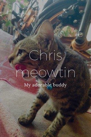 Chris meowtin My adorable buddy