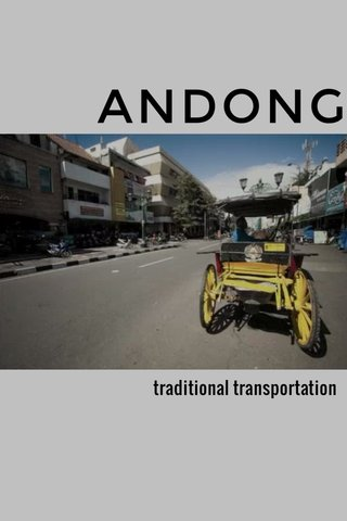 ANDONG traditional transportation