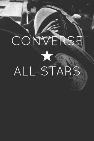 CONVERSE ★ ALL STARS