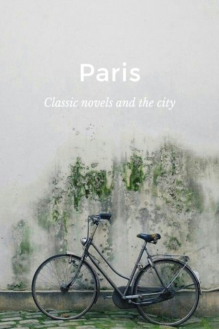 Paris Classic novels and the city