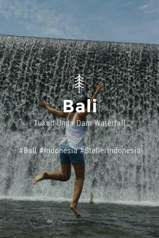 Bali Tukad Unda Dam Waterfall #Bali #Indonesia #StellerIndonesia