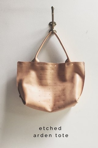 etched arden tote