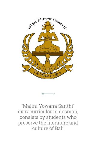 """""""Malini Yowana Santhi"""" extracurricular in dosman, consists by students who preserve the literature and culture of Bali"""