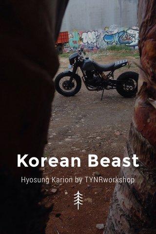 Korean Beast Hyosung Karion by TYNRworkshop