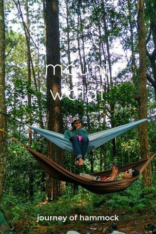 mount walat journey of hammock