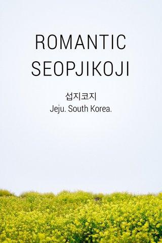 ROMANTIC SEOPJIKOJI 섭지코지 Jeju. South Korea.