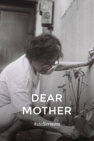 DEAR MOTHER #stellermom