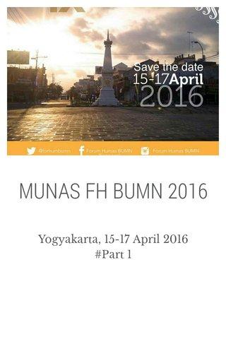 MUNAS FH BUMN 2016