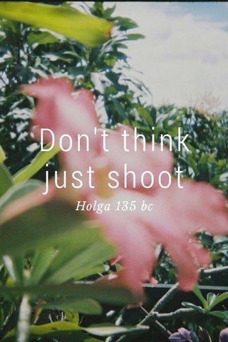 Don't think just shoot Holga 135 bc