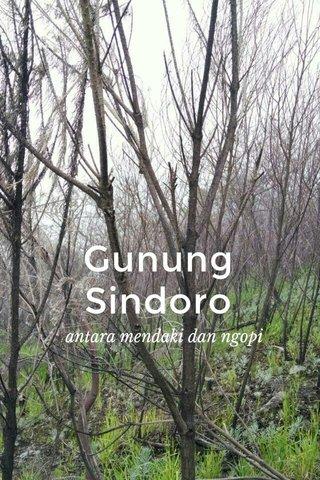 Gunung Sindoro antara mendaki dan ngopi