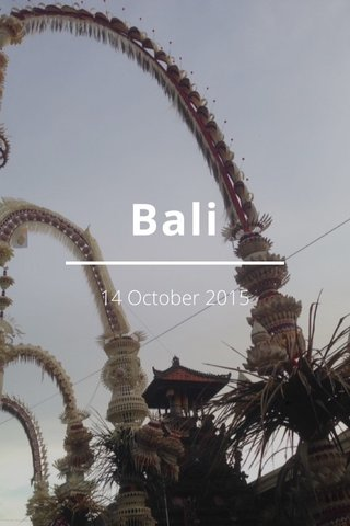 Bali 14 October 2015