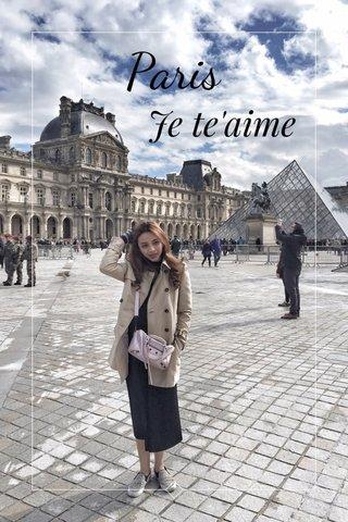 Paris Je te'aime