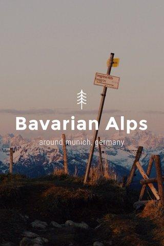 Bavarian Alps around munich, germany