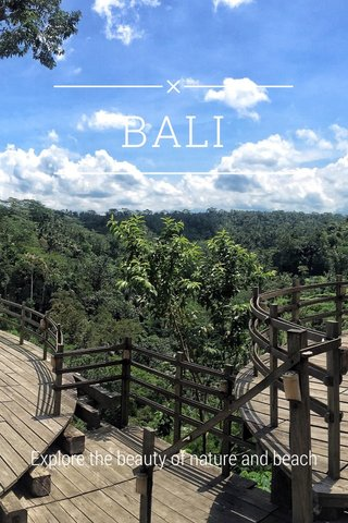BALI Explore the beauty of nature and beach