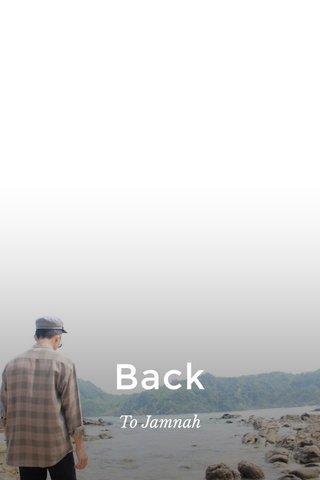 Back To Jamnah