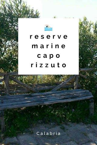 🏊reserve marine capo rizzuto Calabria