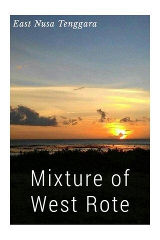 Mixture of West Rote East Nusa Tenggara
