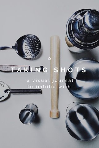 TAKING SHOTS a visual journal to imbibe with