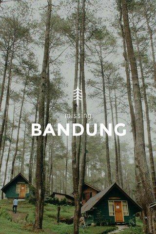 BANDUNG missing