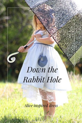 Down the Rabbit Hole Alice inspired dress