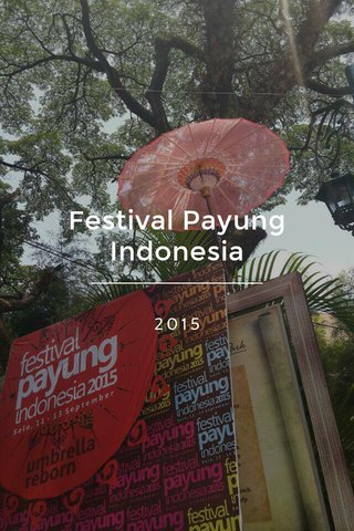 Festival Payung Indonesia 2015