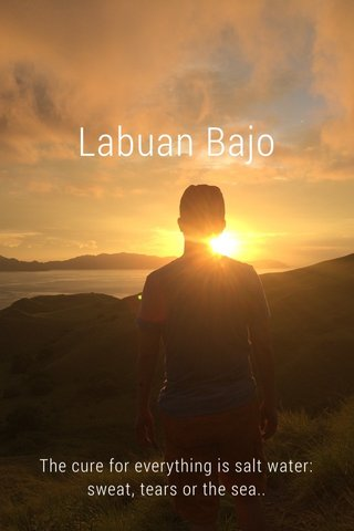 Labuan Bajo The cure for everything is salt water: sweat, tears or the sea..