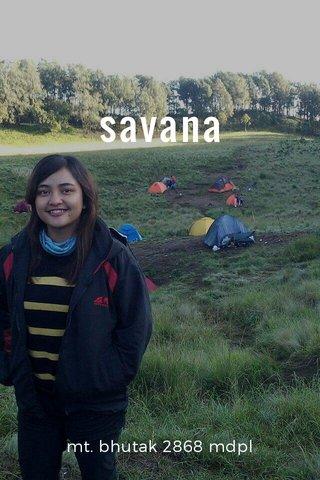 savana mt. bhutak 2868 mdpl