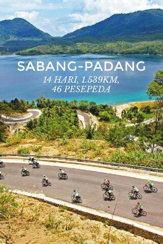SABANG-PADANG 14 HARI, 1.539KM, 46 PESEPEDA