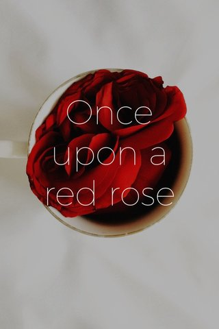 Once upon a red rose